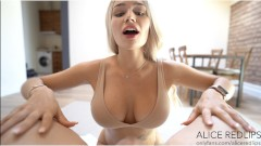 Big titty Alice يحصل على الوجه – Alice Redlips